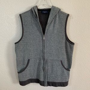 Zippered vest with hood, size 2X